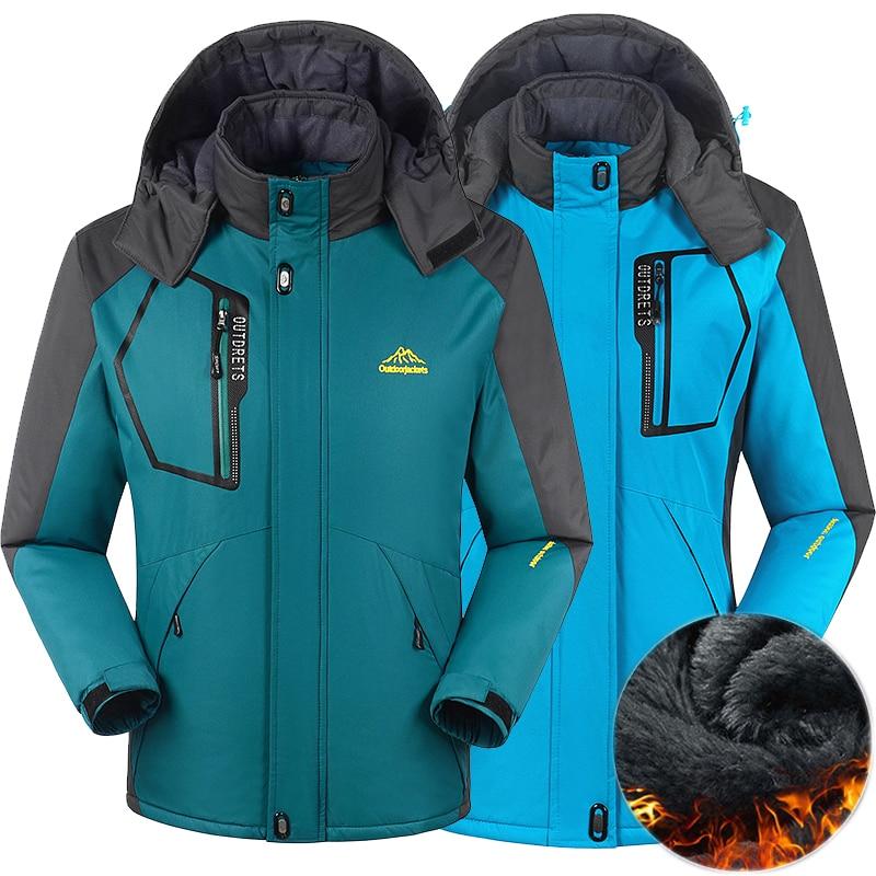 Men Women Winter Jacket Outdoor Hiking Coat Men Thermal Windbreaker Male Camping Skiing Sport Parkas Jacket Waterproof Windproof