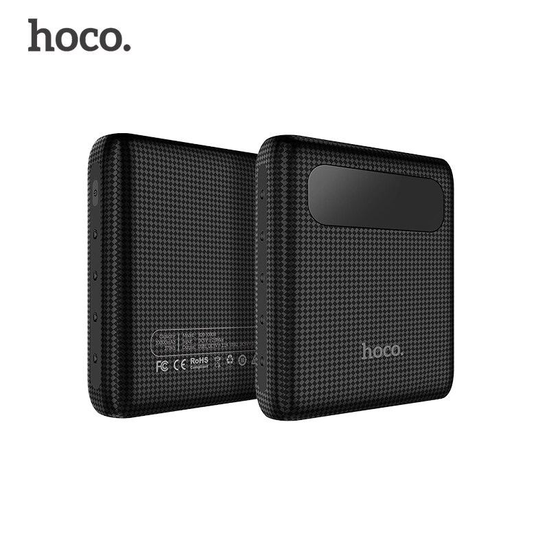 imágenes para Hoco b20 10000 mah dual usb 18650 cargador de teléfono móvil banco portable de la energía del banco de baterías externas para iphone xiaomi powerbank