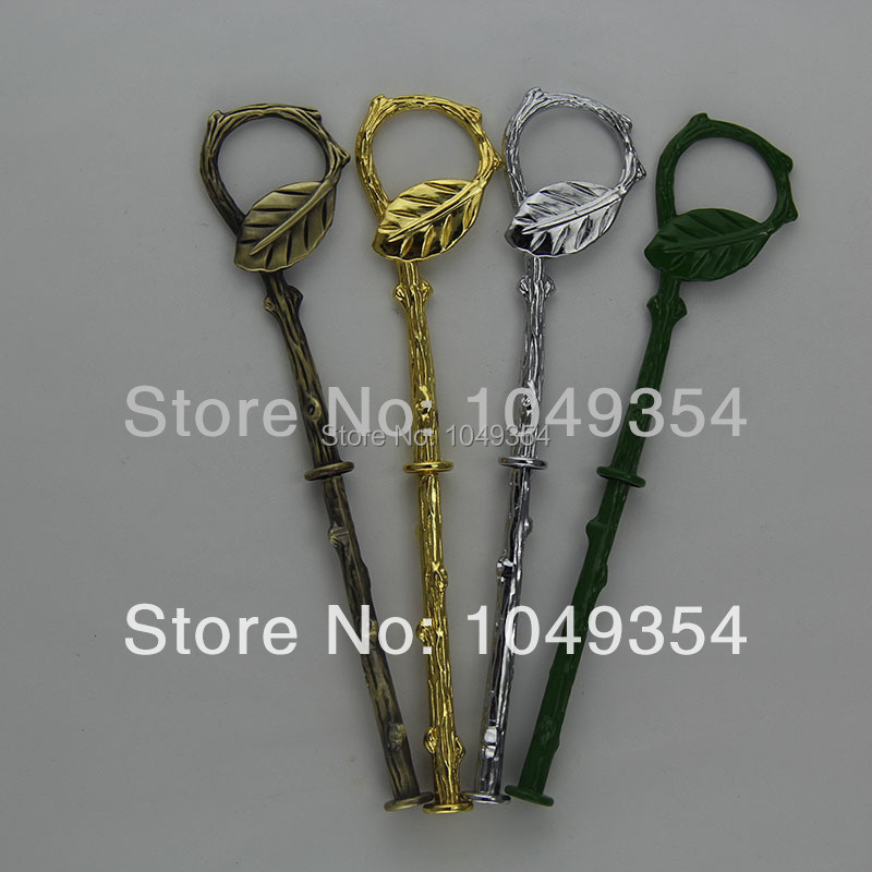 mix and match 4 colors leaves style silver 2 tiers cake stand handles / cake stand fittings/kitchen fittings wholesale