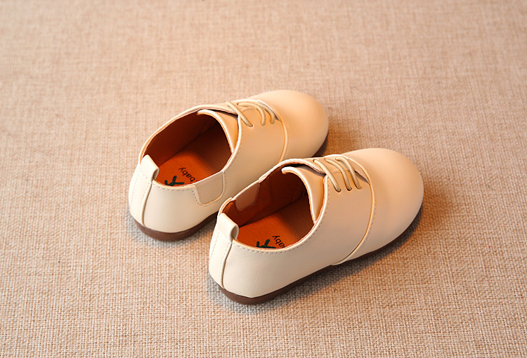 Spring Children Casual Shoes Baby Boys England Style Leather Shoes Girls Soft Bottom Shoes Kids Flats High Quality Sneakers C243 10