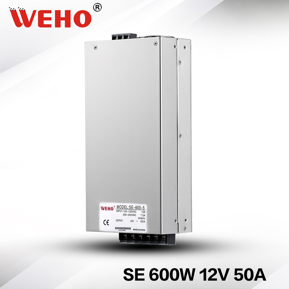 (SE-600-12) Factory outlet 12V 600W DC Switching power supply 110/220VAC input 50A 12v 600w power supply(SE-600-12) Factory outlet 12V 600W DC Switching power supply 110/220VAC input 50A 12v 600w power supply