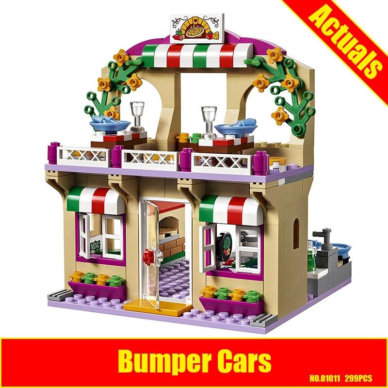 Lepin 01011 299Pcs Girl Good Series The Heartlake Pizza Restaurant Set Educational Building Blocks Bricks Toys Gift 41311