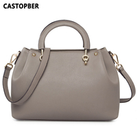 2016 New Designer Fashion Women Top Handle Handbags Tote Bag Genuine Leather Cowhide Leather Women S