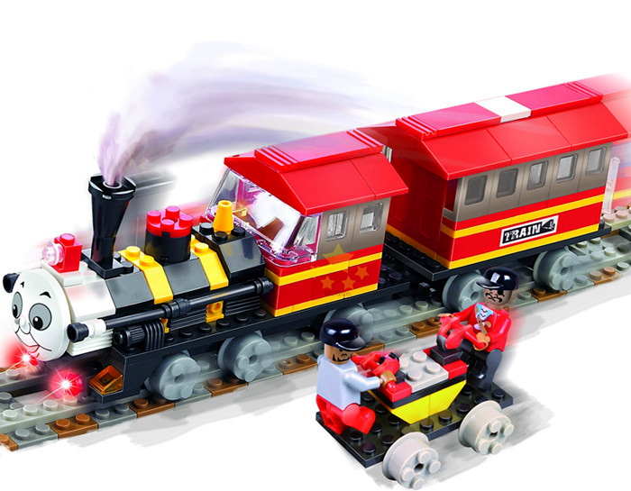Cogo Thomas Train Building Block Sets Length 35cm Red High ...