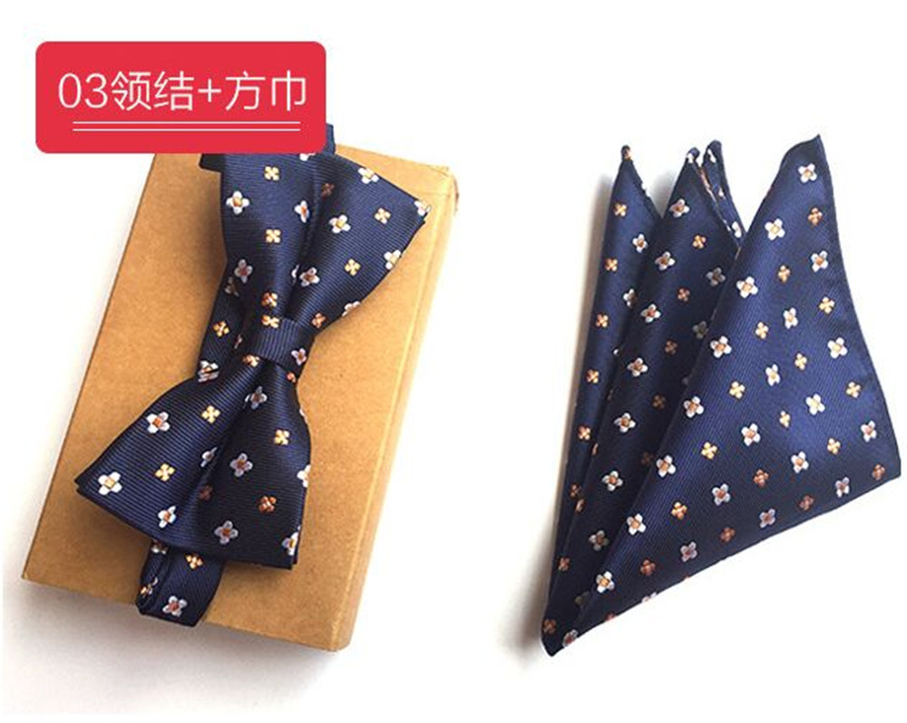Cityraider Brand New Blue Floral Print Mens Slim Necktie Mens Silk Ties For Men Handkerchief With Bow Tie Match 2pcs Set Cr015 Ample Supply And Prompt Delivery Apparel Accessories