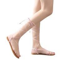 Platform Shoes Women Nice Sandal Women Roman Style Fashion Flat Shoes Bandage Clip Toe Summer Base Sandals Shoes#Pop