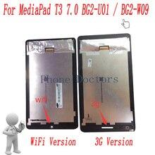 7.0 inç lcd ekran + dokunmatik ekranlı sayısallaştırıcı grup Huawei MediaPad T3 7.0 2017 3G BG2 U01/WiFi BG2 W09