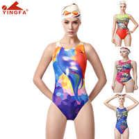 One Piece Swimsuit Yingfa Sport Swimwear Women Training Swimsuit Digital Print Swimming Suits For Women Bathing Suits