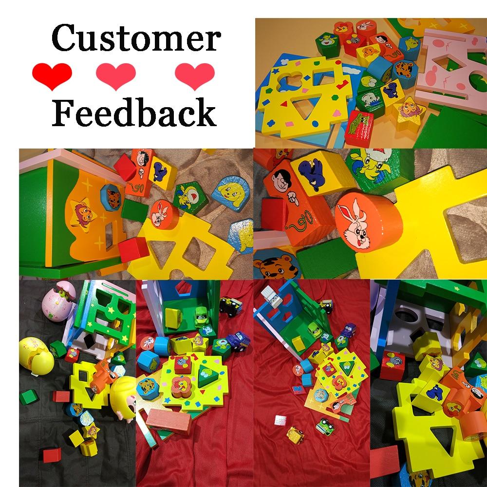 Jouets pour enfants enfant en bois jouet Cube forme géométrique apprendre bébé enfant en bas âge jeu éducatif préscolaire jouet reconnaissance Match Puzzle - 2