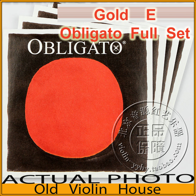 Original Pirastro Gold E Obligato violin strings (411021), full set,made in Germany,Free shipping free shipping evah pirazzi violin strings full set ball end made in germany for 4 4