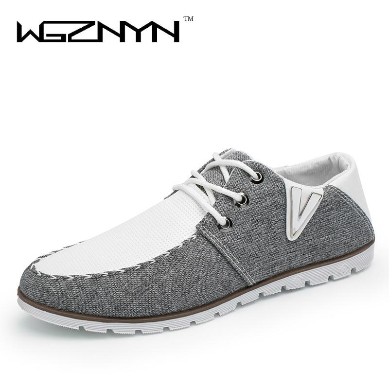 WGZNYN 2017 Spring Summer Men Shoes Fashion Breathable Denim Shoes Slip on  Mens Casual Canvas Shoes Men Flats Zapatillas Hombre 00ffbd740e7c