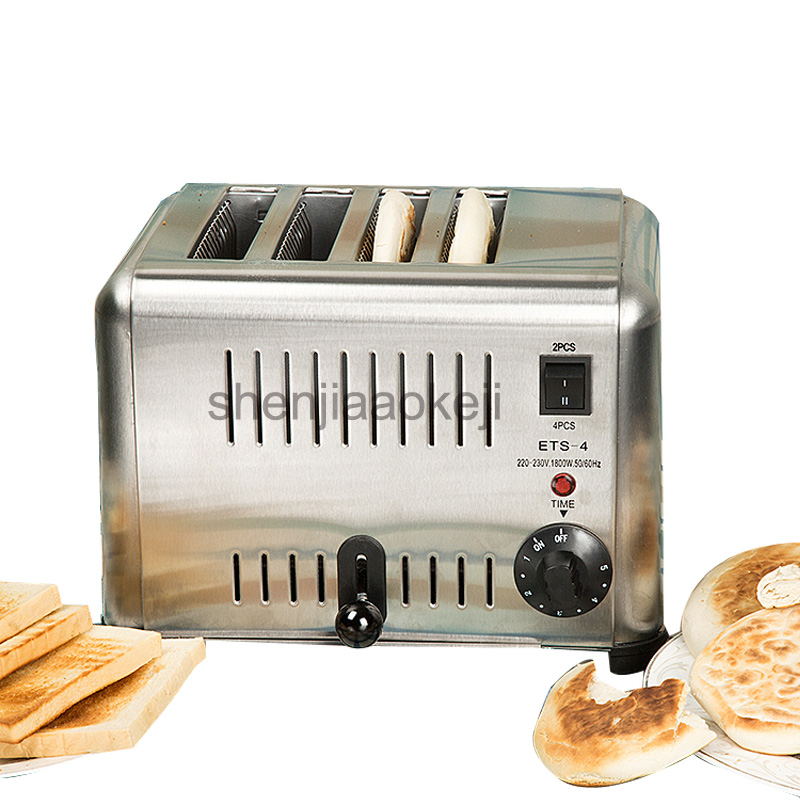 home toaster Stainless Steel Commerical toaster 4 slices toaster cordless bread toaster maker 1200W 1pc kurt adler 4 1 2 inch noble gems glass toaster ornament