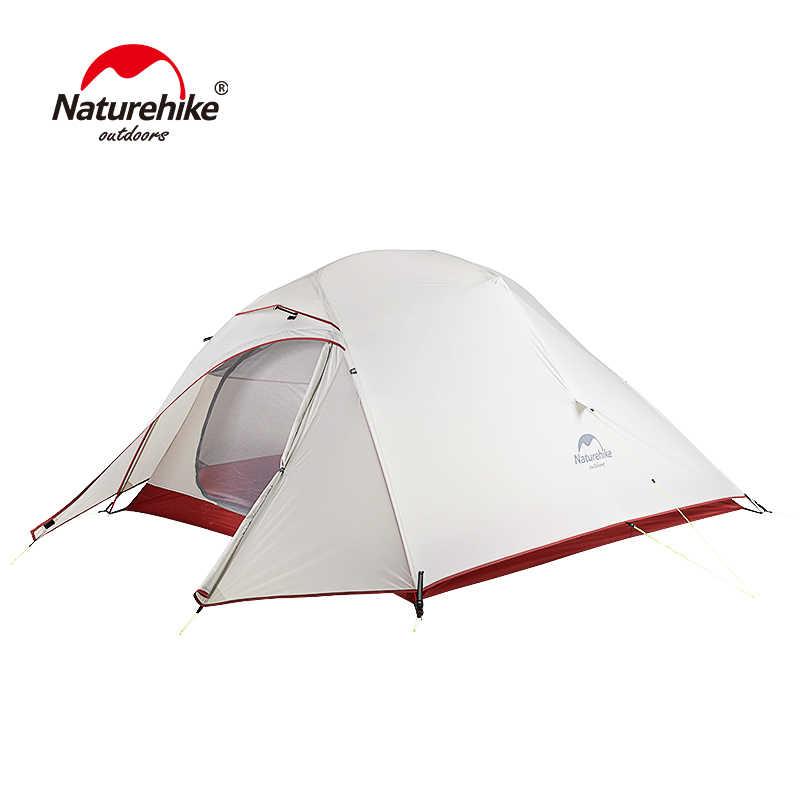 Naturerandonnée tente mise à niveau CloudUp série 3 personnes 20D Silicone Double couche en aluminium pôle ultra-léger Camping tente NH18T030-T