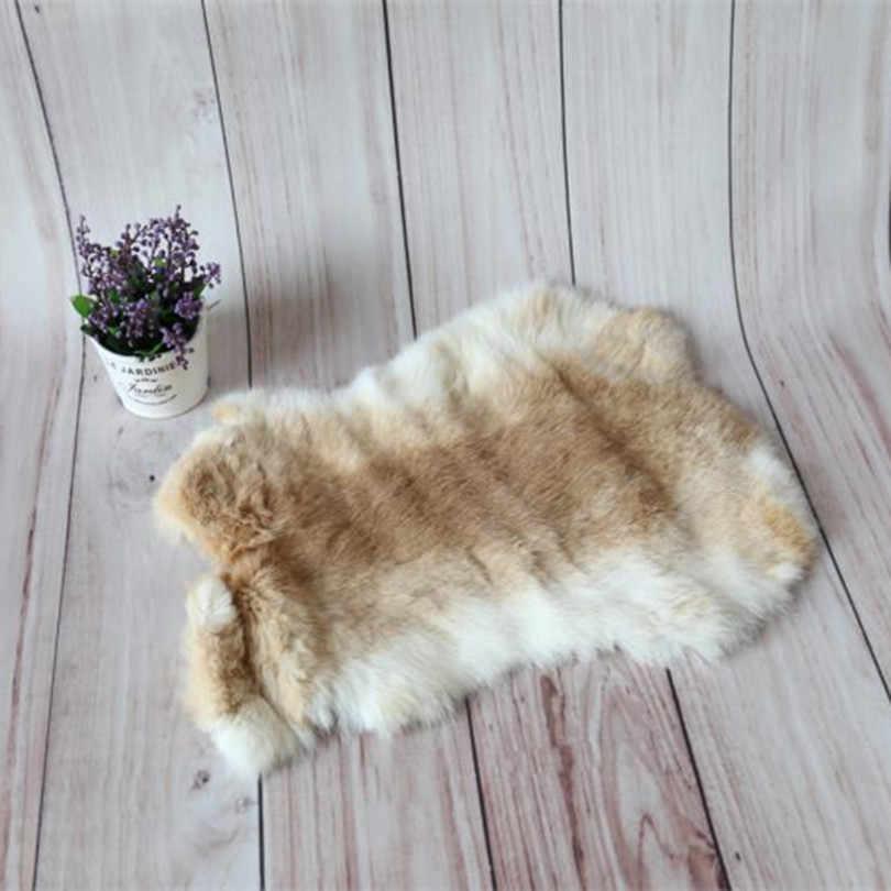 Одеяло для фотосъемки новорожденных с натуральным мехом, наполнитель для корзины лаванды, мягкая ткань для позирования, детский многослойный шерстяной коврик, детский реквизит