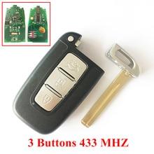 3/4 Кнопки Дистанционного Ключа Для Hyundai Ix35 I30 Соната Elantra Smart Remote Key 433 МГЦ Ip С TOY40 Лезвия