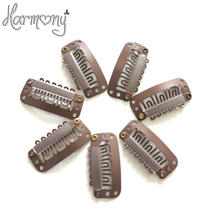 50pcs 2.3cm hair snap clips for extensions U Shape weave toupee wig 6 teeth clips styling tools(China)
