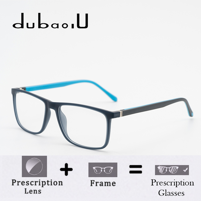 5d60603800 TR90 Men Prescription Glasses With Diopter Blue Light Transition Lens For Sight  Progressive Fashion Spectacle Frame  MZ13-06