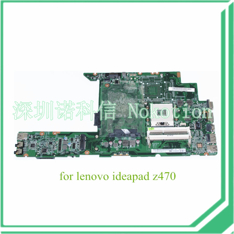 DAKL6MB16G0 For lenovo ideapad Z470 Laptop motherboard hm65 ddr3 11S11013285
