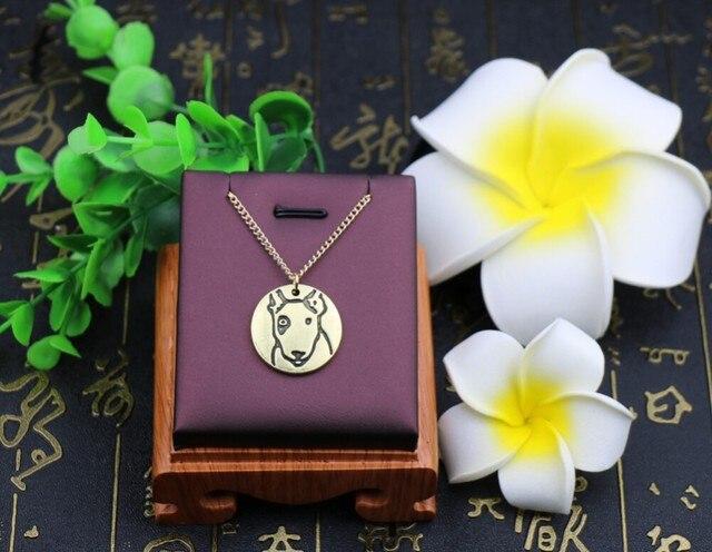 Фото ожерелье ручной работы в стиле ретро с изображением бультерьера цена