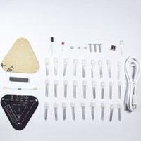 Best Promotion High Quality DIY Touch Control RGB Full Color 5MM LED Triangular Pyramid Kit