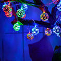 bedroom Led string light Moroccan 2m 20 Lamp Ball String Warm White Colorful Garlands Decoration Christmas Holiday Party Wedding