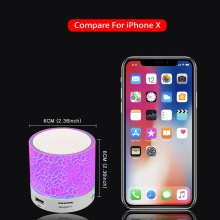GETIHU Portable Mini Bluetooth Speakers Wireless Hands Free LED Speaker TF USB FM Sound Music For iPhone X Samsung Mobile Phone