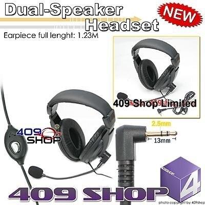 4-061MT Dual-Спикер Гарнитура Для TH-2R T5000 T5100 T5200 T5300 T5500 T5600 T4500 T5100 T5320 T5550 FR50