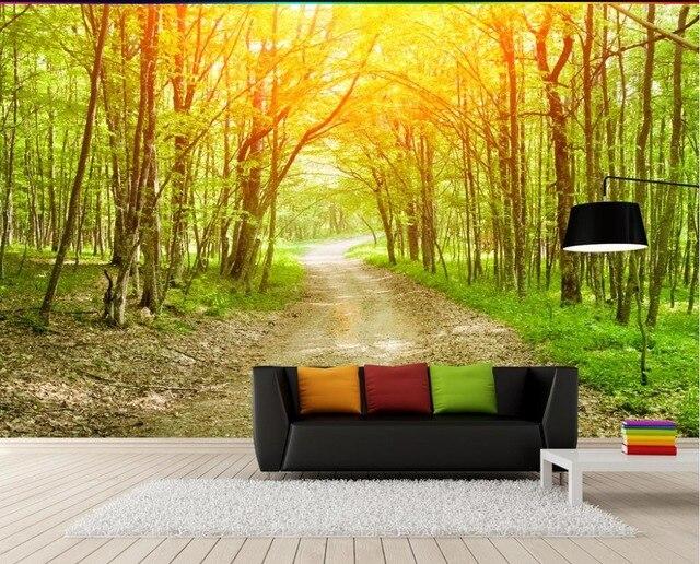 benutzerdefinierte 3d tapeten nat rlichen landschaft wald hintergrund wand foto 3d wallpaper 3d. Black Bedroom Furniture Sets. Home Design Ideas