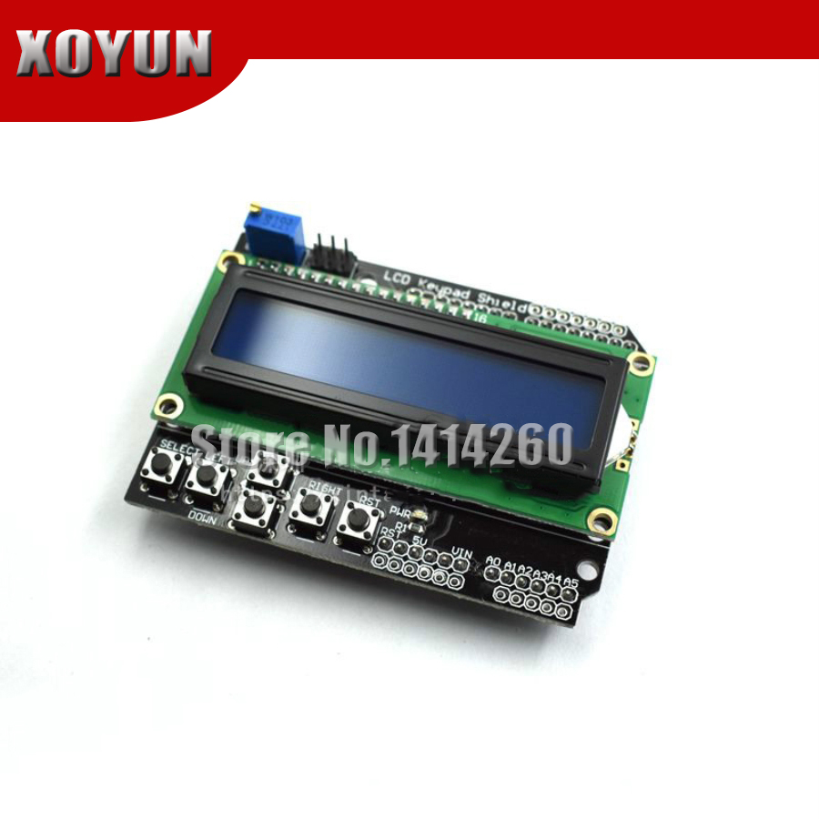 LCD1602 Character LCD Input And Output Expansion Board Keypad Shield Compatible With UNO R3