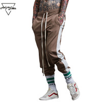 Aelfric Eden Panelled Patchwork Casual Harem Pants Men Zip Pocket Trousers High Quality Joggers Pants Hip