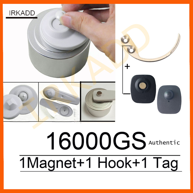 Magnetic Detacher 16000GS Cloth Security Tag Remover Checkpoint System RF8.2Mhz Compatible +1 Key Hook Detacher+1Alarms