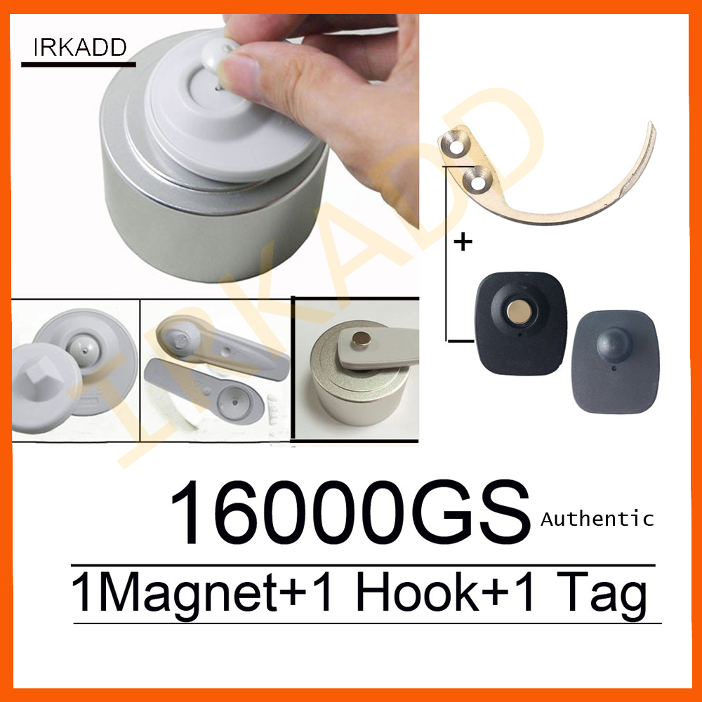 original 16000GS universal detacher eas security tag remover1pcs+super security tag detacher hook1pcs factory sale free shipping