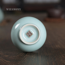 WIZAMONY New Arrival Traditional Chinese Longquan Porcelain Tabletop Vase Decroation  Lagenaria Siceraria Form Low Price