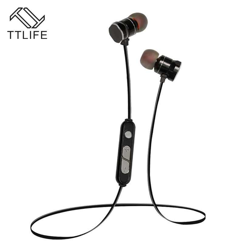 TTLIFE New Wireless Bluetooth V4.1 Headset Earphone Magnetic Earbuds Sports Stereo Headphones with Mic for Phones fone de ouvido ttlife business headphones car call mini bluetooth headset earphone wireless earphone with mic for iphone xiaomi fone de ouvido