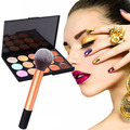 15 Colors Face Contour Cream Party Concealer +Foundation brush Makeup Set Best Price Christmas Gift GUB#