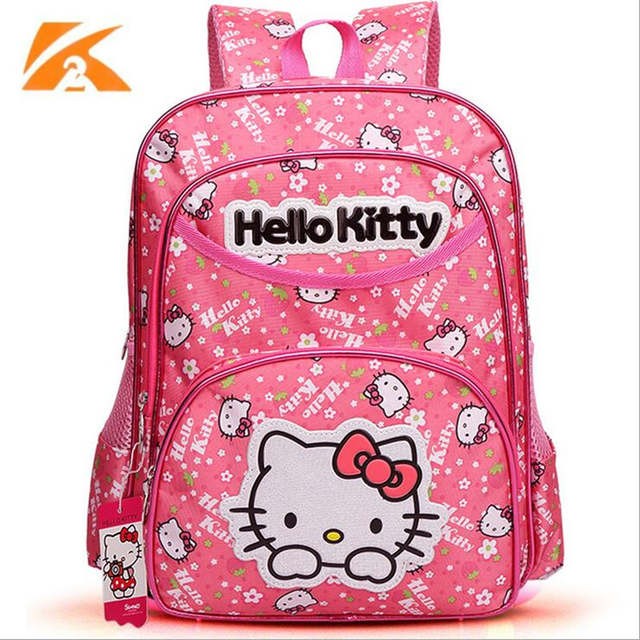 21b798261 Cute Korean Children Schoolbag Backpack High Capacity Girl Travel  Schoolbags hello kitty backpack Children Cartoon School Bags-in School Bags  from Luggage ...