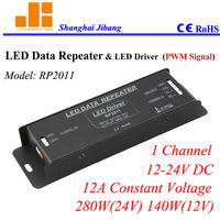 Free Shipping Signal Pwm Repeater LED Signal Amplifier LED Connector For Led Panel Etc 1CH 12V