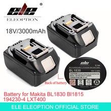 ELE ELEOPTION 2PCS Brand NEW 3000mAh 18 VOLT Li Ion Power Tool Battery for Makita BL1830