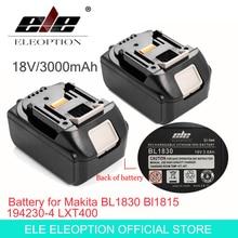 ELE ELEOPTION 2PCS Brand NEW 3000mAh 18 VOLT Li-Ion Power Tool Battery for Makita BL1830 Bl1815 194230-4 LXT400