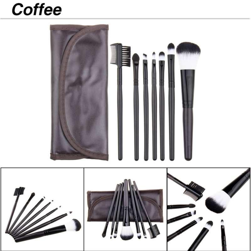 punho plástico Cosmetic Make Up Brush Kit