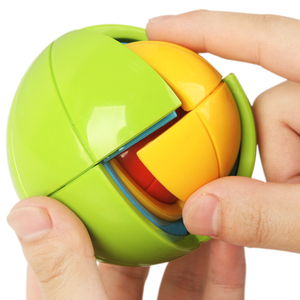 MYHOESWD Balls Puzzle Spherical Cube Rainbow Ball Color Round Brain Games For Adults Plastic Blocks Toys For Kids Gifts