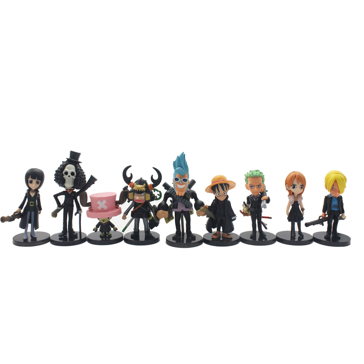 Chanycore BLACK Gun Ver 8CM 9pcs/set One Piece New World Anime Figuarts SPECIAL MH POP Luffy zoro nami Action Figure Limit