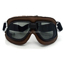 Outdoor Sport Goggles Oculos Para Motociclista Snowboard Ski Goggles Biker Glasses For Motorcycle Motocross Brown PU Leather