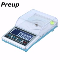 PREUP 0.001x 20g/50g Digital Scale Jewellery Balance Pocket Weigh Portable Electronic LCD Display Pocket Scale Blue backlight