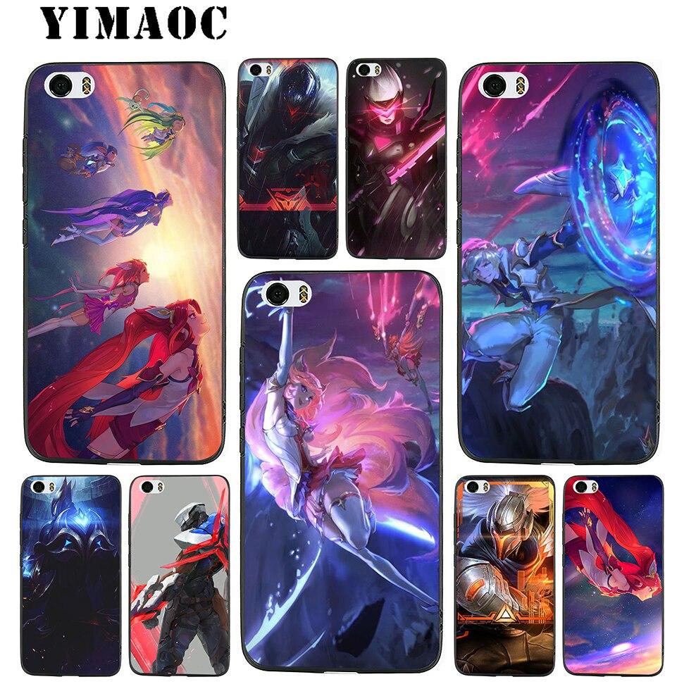 YIMAOC Lol Star Guardians project Soft TPU Black Silicone Case for Xiaomi Mi6 5X A1 Redmi 4X 4A 5A 5 Plus Note 4