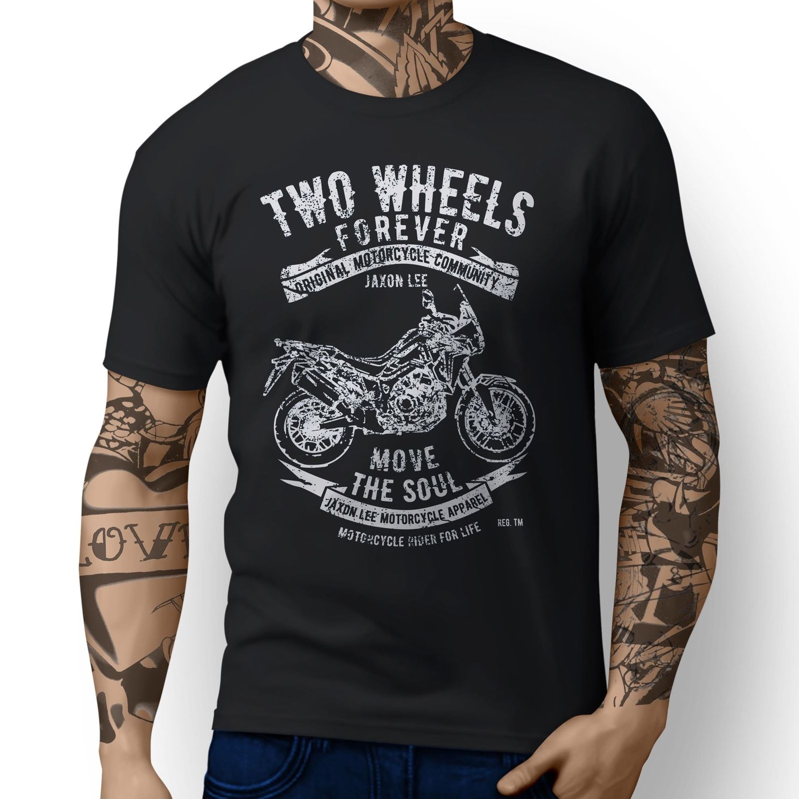 2018 New Summer Cool Japanese Classic Motorbike Africa Twin 2016 inspired Motorcycle Art design   T  -  shirts   Tee   Shirt