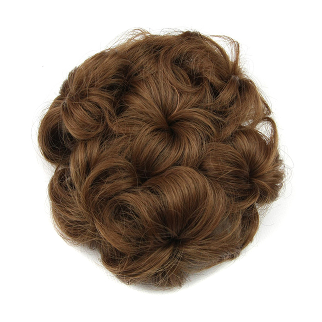 Soowee 8 Colors Synthetic Hair Curly Flower Hair Chignon Rubber Band