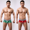 Fashion Designed Shiny Man Boxer Short Trunks Mens Underwear Sexy Men Underwear Brand Gay Penis Pouch slim Low rise