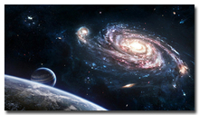 Milky Way Galaxy Space Stars Nebula Poster