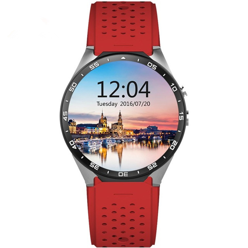 Best 3G wifi kingwear Kw88 android 5.1 OS Smart watch 1.39 inch screen 2.0MP Camera SmartWatch phone support bluetooth nano SIM image